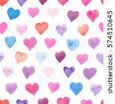 seamless watercolor pattern... | Shutterstock . vector #574510645