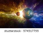 sci fi background   discovered... | Shutterstock . vector #574517755