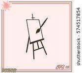 easel vector icon | Shutterstock .eps vector #574517854
