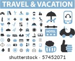 travel   vacation signs. vector | Shutterstock .eps vector #57452071