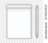 blank realistic notepad... | Shutterstock .eps vector #574524547