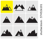 mountains icons   Shutterstock .eps vector #574526101