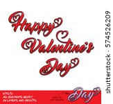 happy valentines day red...   Shutterstock .eps vector #574526209