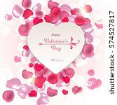 valentine's day. abstract... | Shutterstock .eps vector #574527817