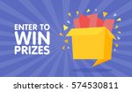 enter to win prizes gift box.... | Shutterstock .eps vector #574530811