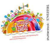 illustration of colorful happy... | Shutterstock .eps vector #574535581