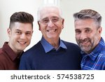 male multi generation portrait... | Shutterstock . vector #574538725