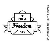press freedom day emblem... | Shutterstock .eps vector #574540981