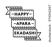 happy apara ekadashi emblem... | Shutterstock .eps vector #574541047