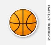 vector illustration. basketball ... | Shutterstock .eps vector #574545985