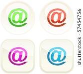 e mail button set for web.   Shutterstock .eps vector #57454756