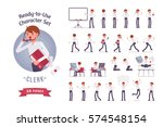 ready to use character set.... | Shutterstock .eps vector #574548154