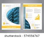 vector modern brochure ... | Shutterstock .eps vector #574556767