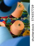 Textile Industry   Yarn Spools...