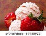 delicious fresh strawberry ice... | Shutterstock . vector #57455923