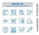 doodle vector line icons set of ... | Shutterstock .eps vector #574561399