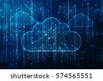 Stock photo cloud technology concept background cloud computing concept d rendering 574565551