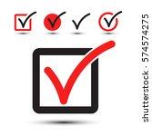 tick symbol. vector checkbox... | Shutterstock .eps vector #574574275