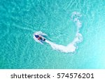 people are playing a jet ski in ... | Shutterstock . vector #574576201