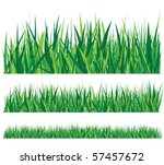 row of grass | Shutterstock .eps vector #57457672