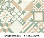 vintage patchwork tiles. old... | Shutterstock .eps vector #574583095