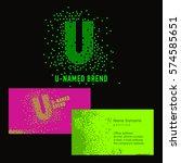 template u brand name  company. ... | Shutterstock .eps vector #574585651