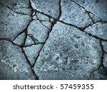 Blue Tone Broke Rock Wallpaper...