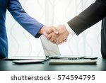 Small photo of Business handshake and business people agreed to work.