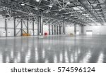 empty warehouse. 3d illustration | Shutterstock . vector #574596124
