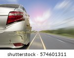 car of accident make rear...   Shutterstock . vector #574601311
