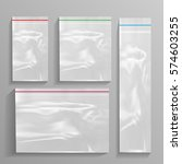 empty transparent plastic... | Shutterstock .eps vector #574603255