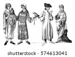 lords  bourgeois and bame widow ... | Shutterstock . vector #574613041
