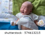 infant baby crying little baby... | Shutterstock . vector #574613215