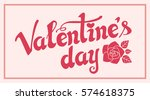 valentines day background with... | Shutterstock .eps vector #574618375