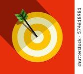 paper vector target symbol | Shutterstock .eps vector #574618981