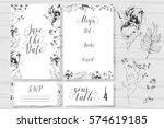 template rustic wedding... | Shutterstock .eps vector #574619185