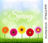 spring banner with flowers  | Shutterstock . vector #574621999