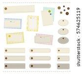 sewing frame set   vector eps... | Shutterstock .eps vector #574625119