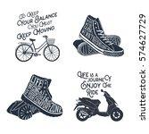 hand drawn textured vintage... | Shutterstock .eps vector #574627729