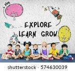 children imagination learning...   Shutterstock . vector #574630039