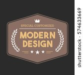 vintage badge tag banner for...   Shutterstock .eps vector #574633669