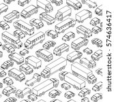 seamless sketch pattern. cars... | Shutterstock .eps vector #574636417