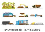 wood production elements...   Shutterstock .eps vector #574636591