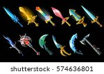 cartoon weapon icons set with... | Shutterstock .eps vector #574636801