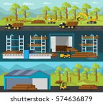 timber production horizontal... | Shutterstock .eps vector #574636879