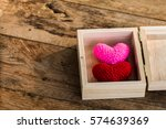 a two heart yarn with love in... | Shutterstock . vector #574639369