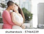 young attractive gay women... | Shutterstock . vector #57464239