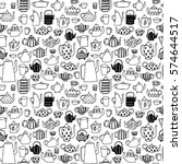 seamless pattern with doodle... | Shutterstock .eps vector #574644517