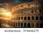 rome  italy.one of the most... | Shutterstock . vector #574646275