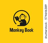 monkey book logo template.... | Shutterstock .eps vector #574646389